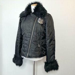 Baby Phat Coat Detachable Faux Fur